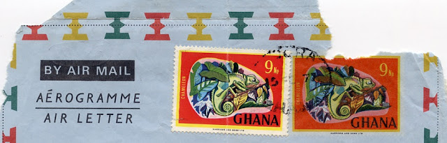 Ghana 1970s aerogram with additional stamp