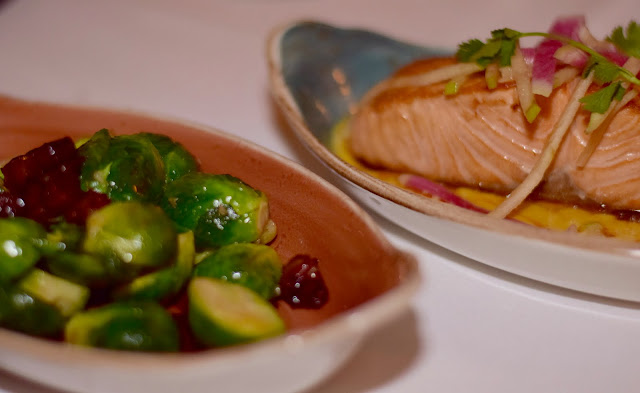 Delicious Sauteed Brussel Sprouts and Salmon
