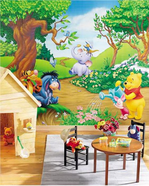 Childrens wall murals Winnie The Pooh