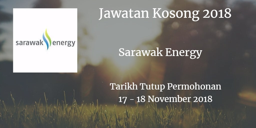 Jawatan Kosong Sarawak Energy 17 - 18 November 2018