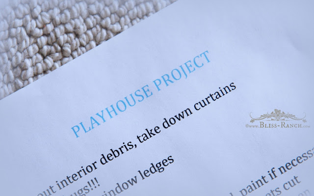 Playhouse Makeover, Bliss-Ranch.com