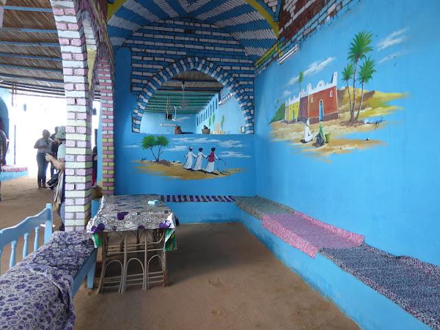 cortile casa villaggio nubiano