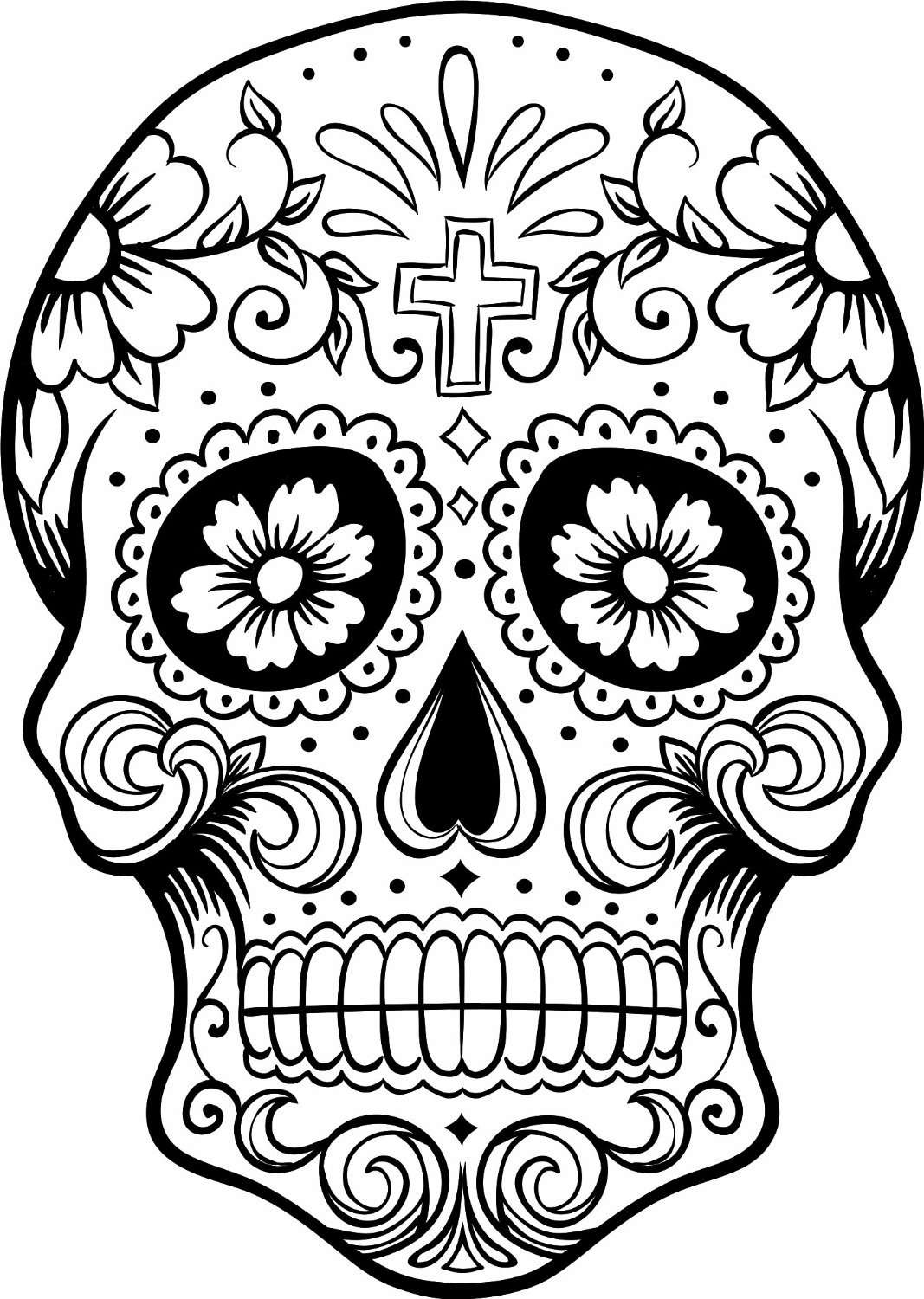 Day Of The Dead 2017 Drawing Tattoo Makeup Coloring Pages