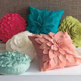 10 ideas para hacer lindos cojines decorativos para tu hogar - Cojines redondos ...