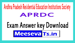 APRDC Exam Answer key Download 2017