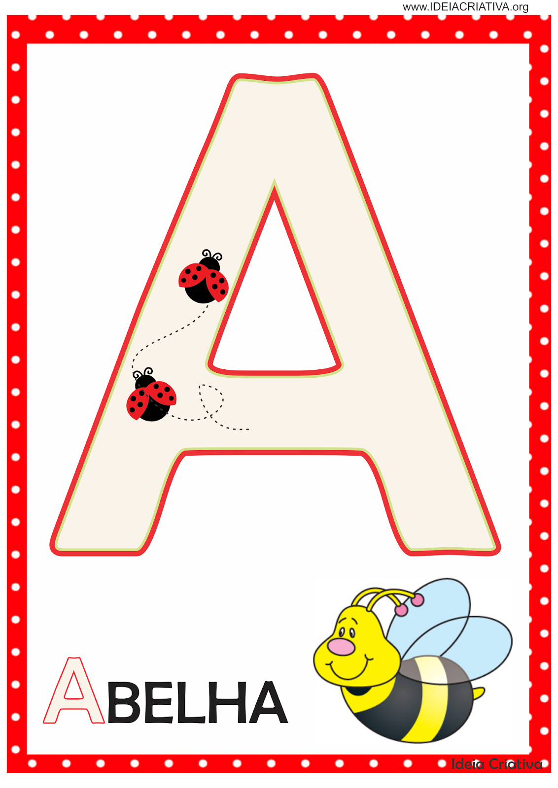 Alfabeto Joaninha Para Imprimir Gratis
