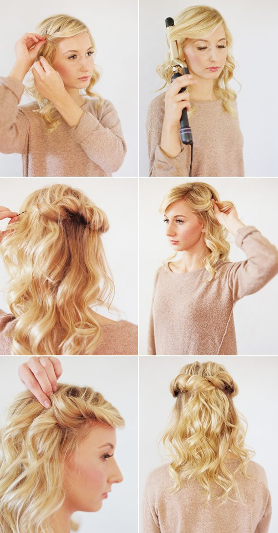 10.LOOSE HALO HAIR TUTORIAL