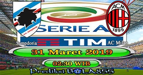 Prediksi Bola855 Sampdoria vs AC Milan 31 Maret 2019