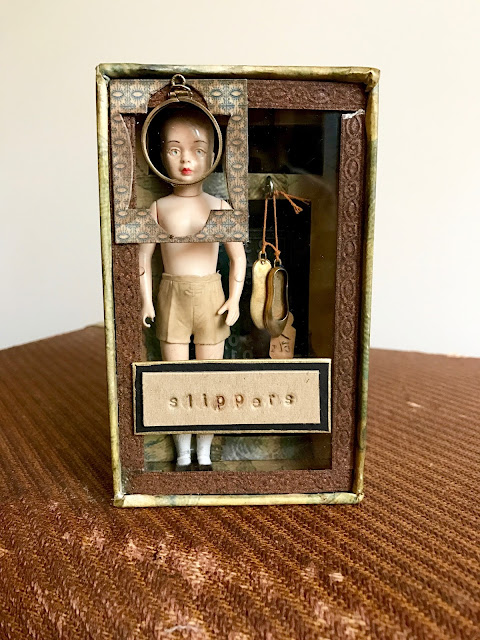 """Her New Slippers"" assemblage"