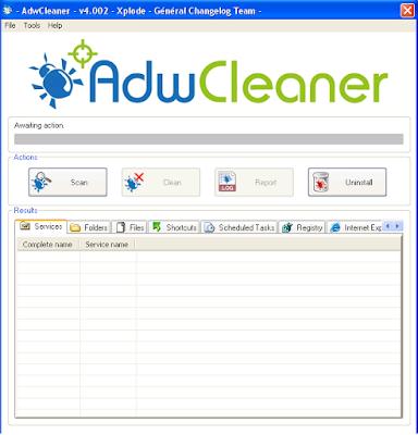 AdwCleaner penghancur Browser Hijacker