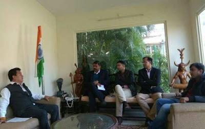 Bimal Gurung seen in delhi