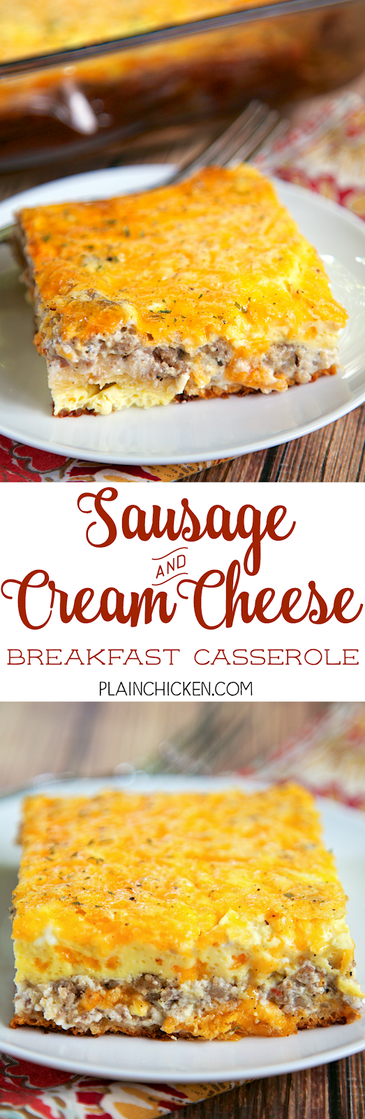 breakfast casserole with cream cheese