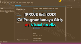 C# Programlamaya Giriş #1 Visual Studio