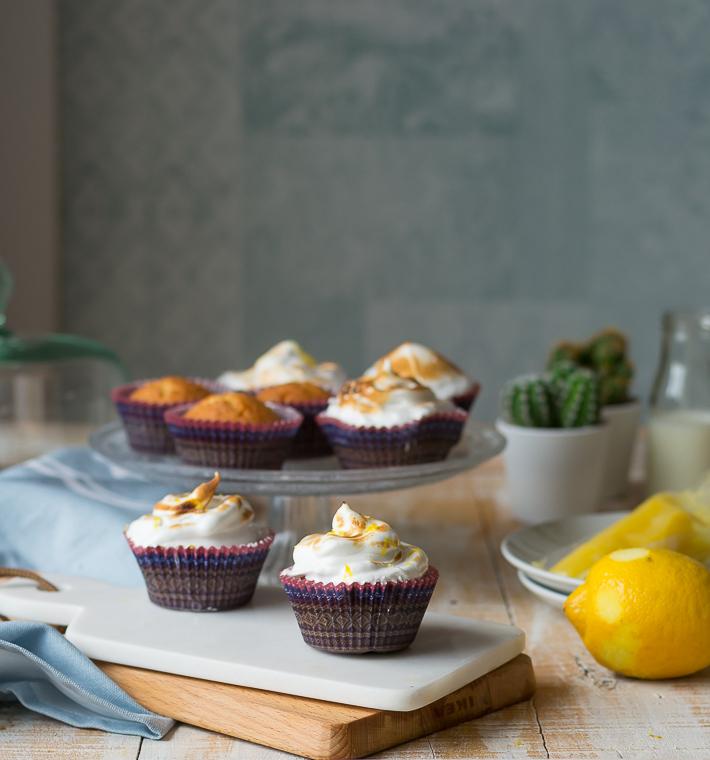 Cupcakes de tarta de limón