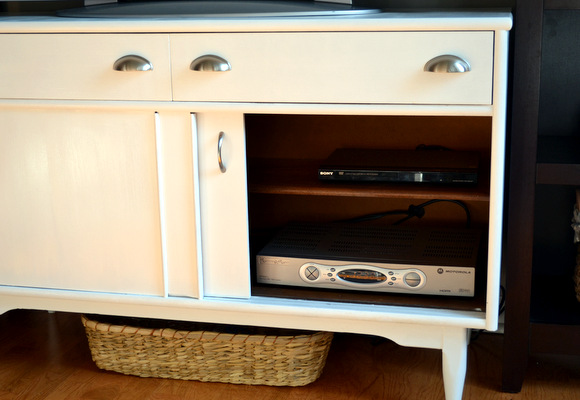 Our New Media Console Hides Electronics Perfectly!