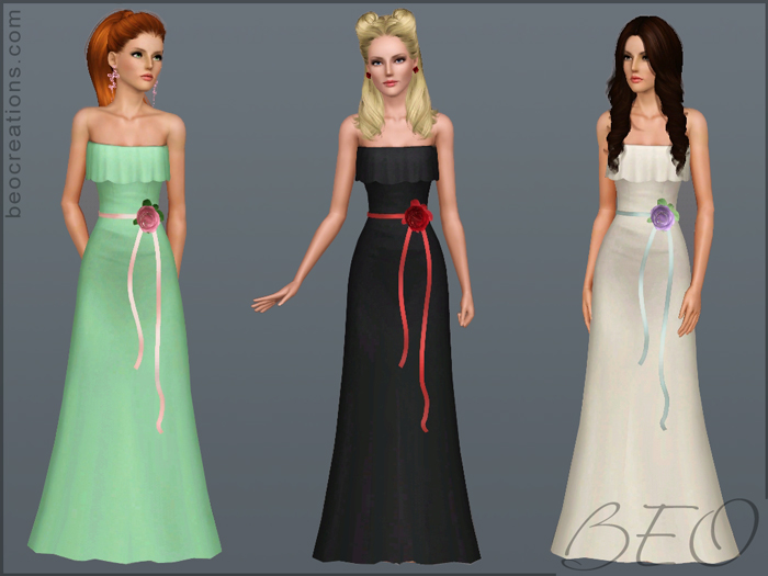 My Sims 3 Blog: Wedding Gown 12 By BEO