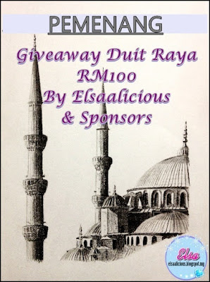 Senarai Pemenang Giveaway Duit Raya RM100 By Elsaalicious & Sponsors