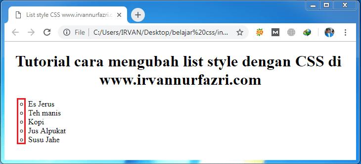 list style type circle - #irvangen