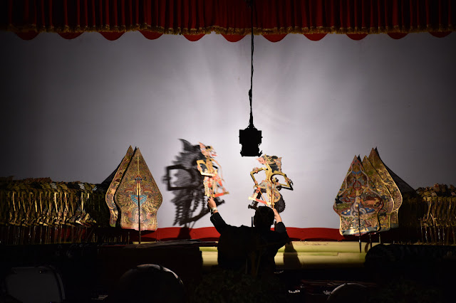 Shadow play: Wayang puppet shows mostly tell stories based on the Hindu epics the 'Ramayana' and the 'Mahabharata'. (