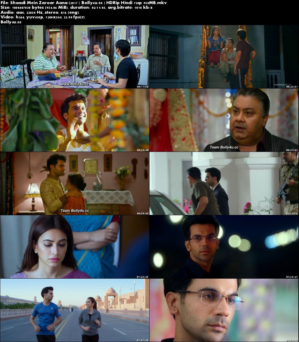 Shaadi Mein Zaroor Aana 2017 HDRip 950MB Hindi 720p Download