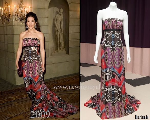 Crown Princess Mary wore Julie Fagerholt Heartmade Gown