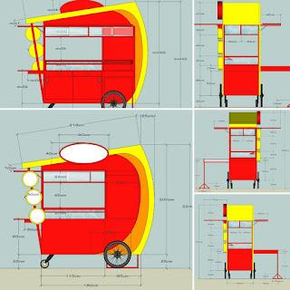 desain gerobak kebab