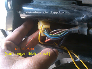 Langkah dan Cara Pasang Alarm Motor System Remote