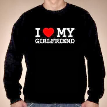I love my girlfriend bluza czarna