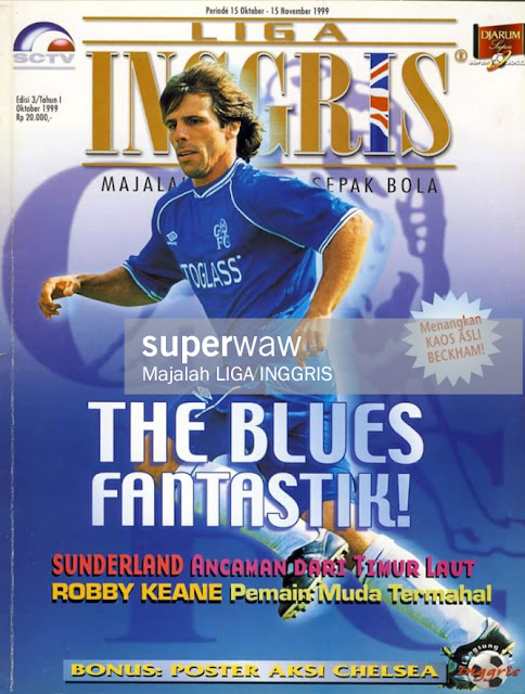 GIANFRANCO ZOLA FANTASTIC THE BLUES CHELSEA
