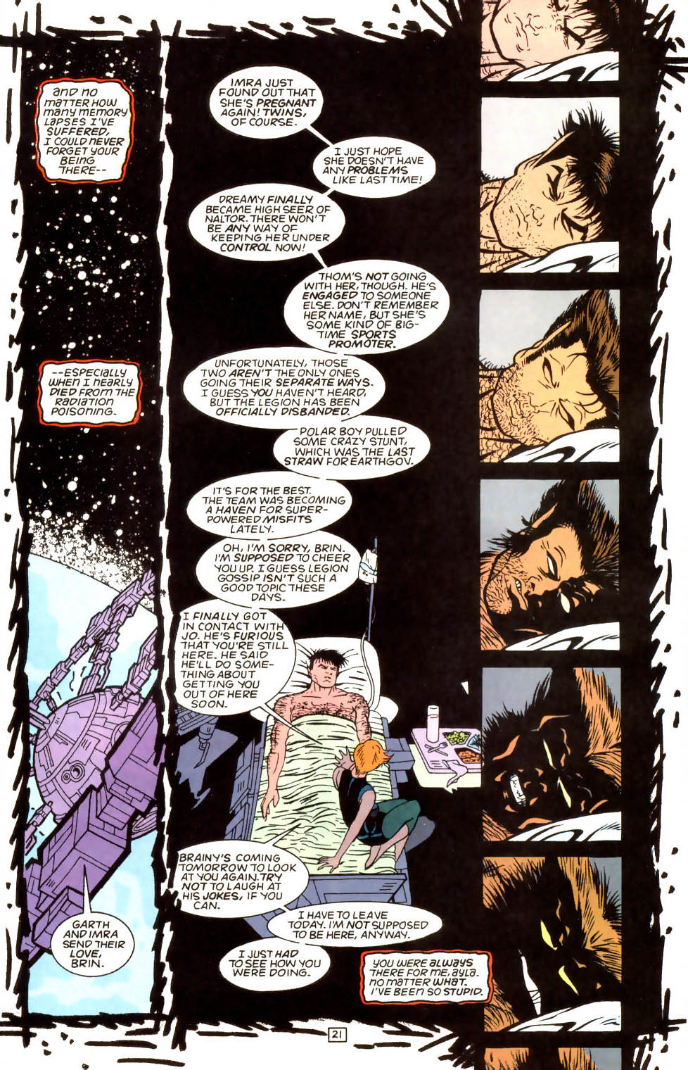 Legion of Super-Heroes (1989) 52 Page 21