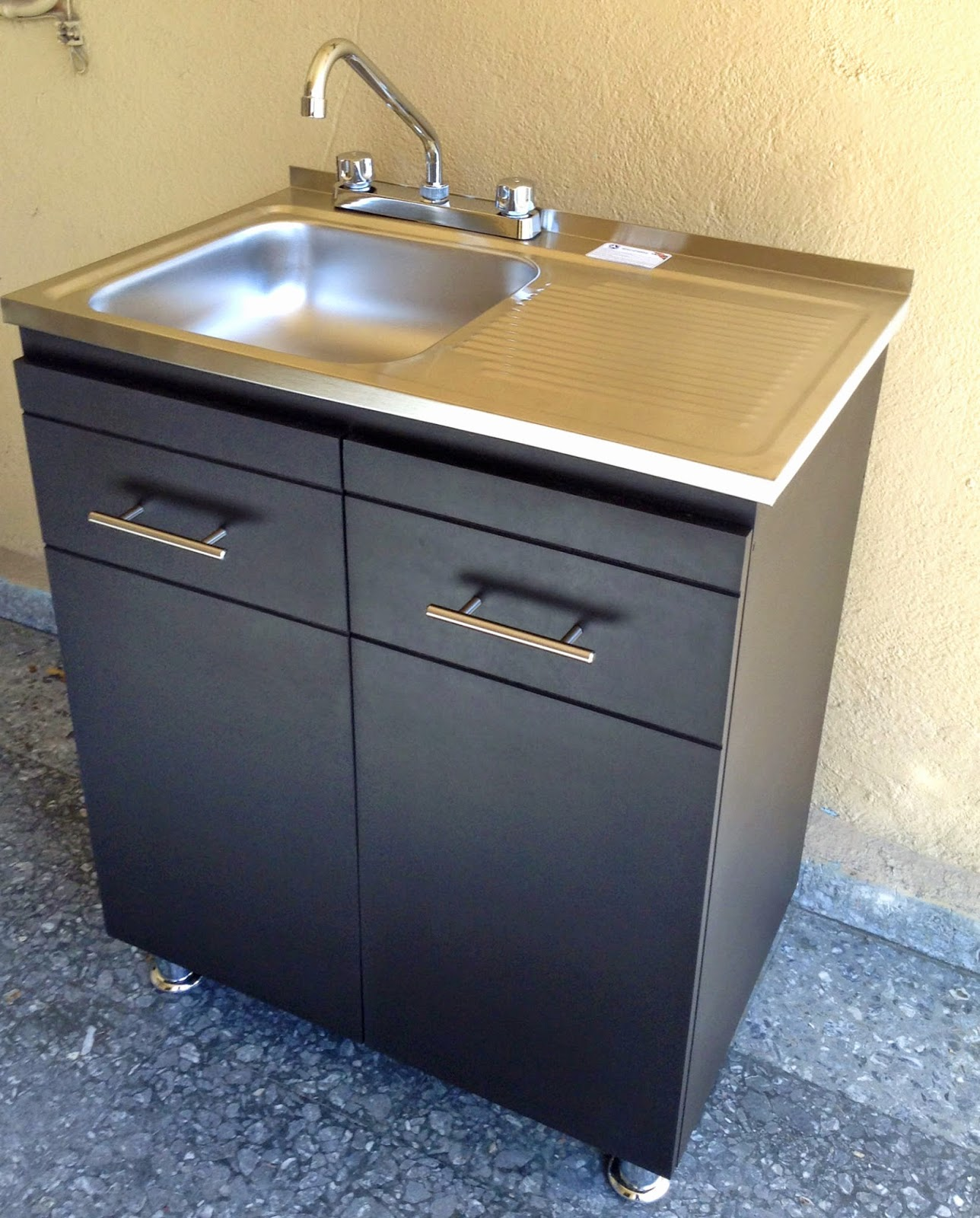 El outlet del gabinete gabinete de cocina con tarja y alacena - Muebles para fregadero cocina ...