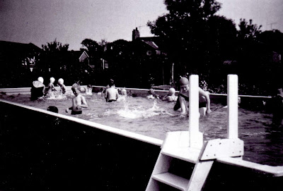 Brigg school swimming in the 1960s - open air pool