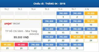 Giá vé máy bay Hồ Chí Minh đi Nha Trang