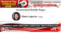 Pubcon Austin Session: Accelerated Mobile Pages with Elena Legeros of Google