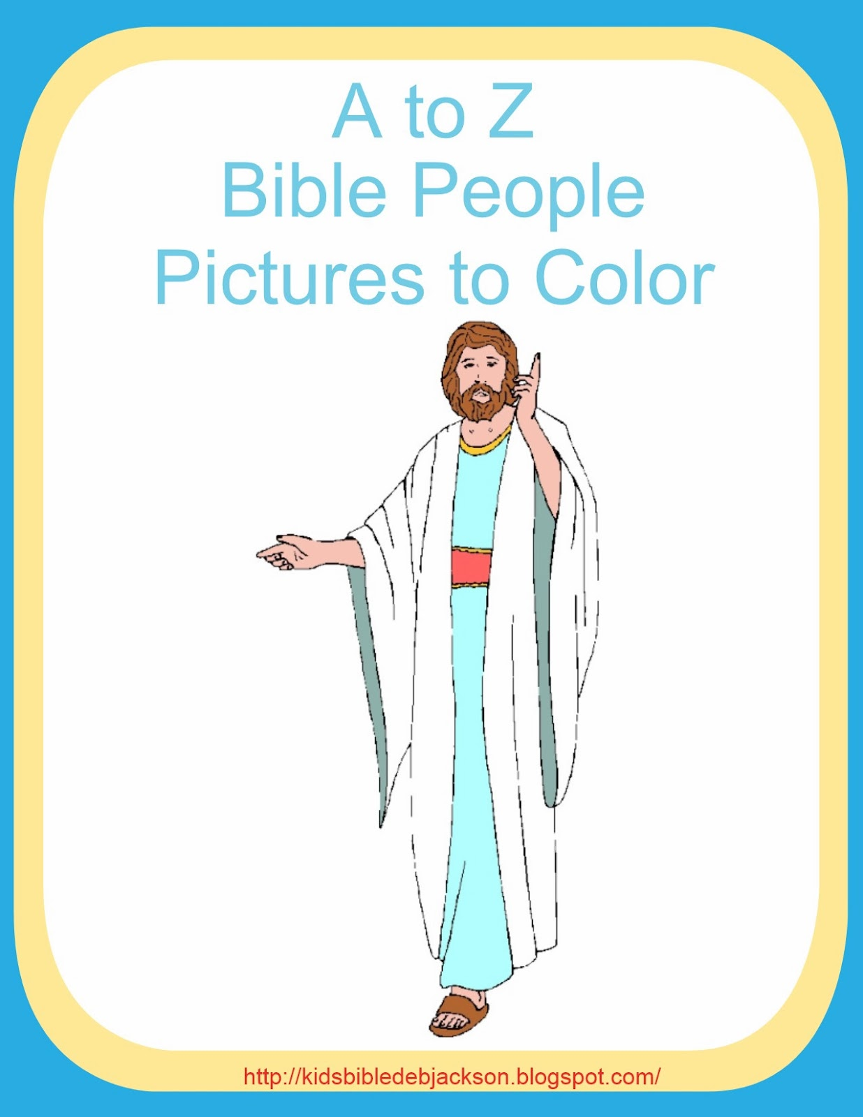Bible Fun For Kids A To Z Bible People Pictures To Color