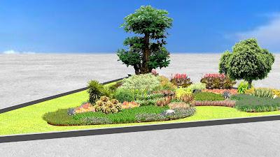 Desain Taman Median Jalan oleh Jasa Tukang Taman Surabaya 4
