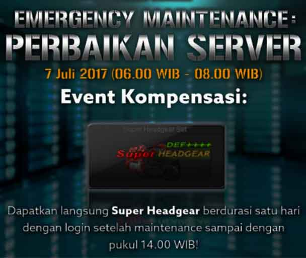 Emergency Server Maintenance PB Garena Indonesia 7 Juli 2017