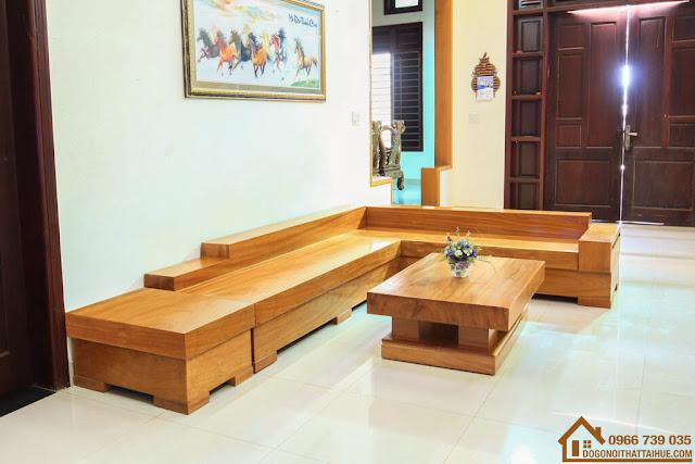 Sofa góc gỗ gõ đỏ, Sofa goc go go do, sofa gỗ gõ đỏ Huế, sofa góc Huế