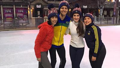 Patinadores brasileiros realizam apresentações no Snowland