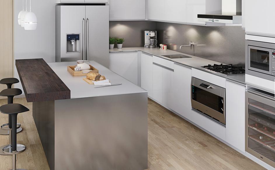 Encimeras de madera apostando por lo natural cocinas for Que encimera poner en una cocina blanca