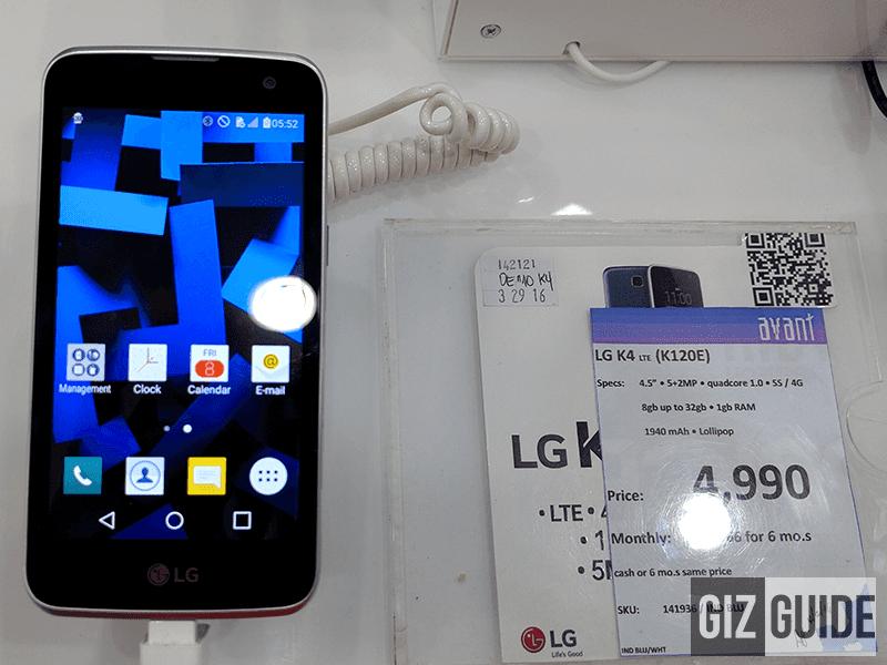 LG K4 LTE at 4,999 Pesos