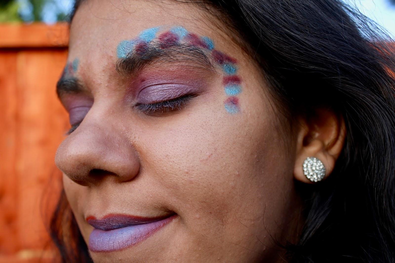 Purple Festival Styled Makeup