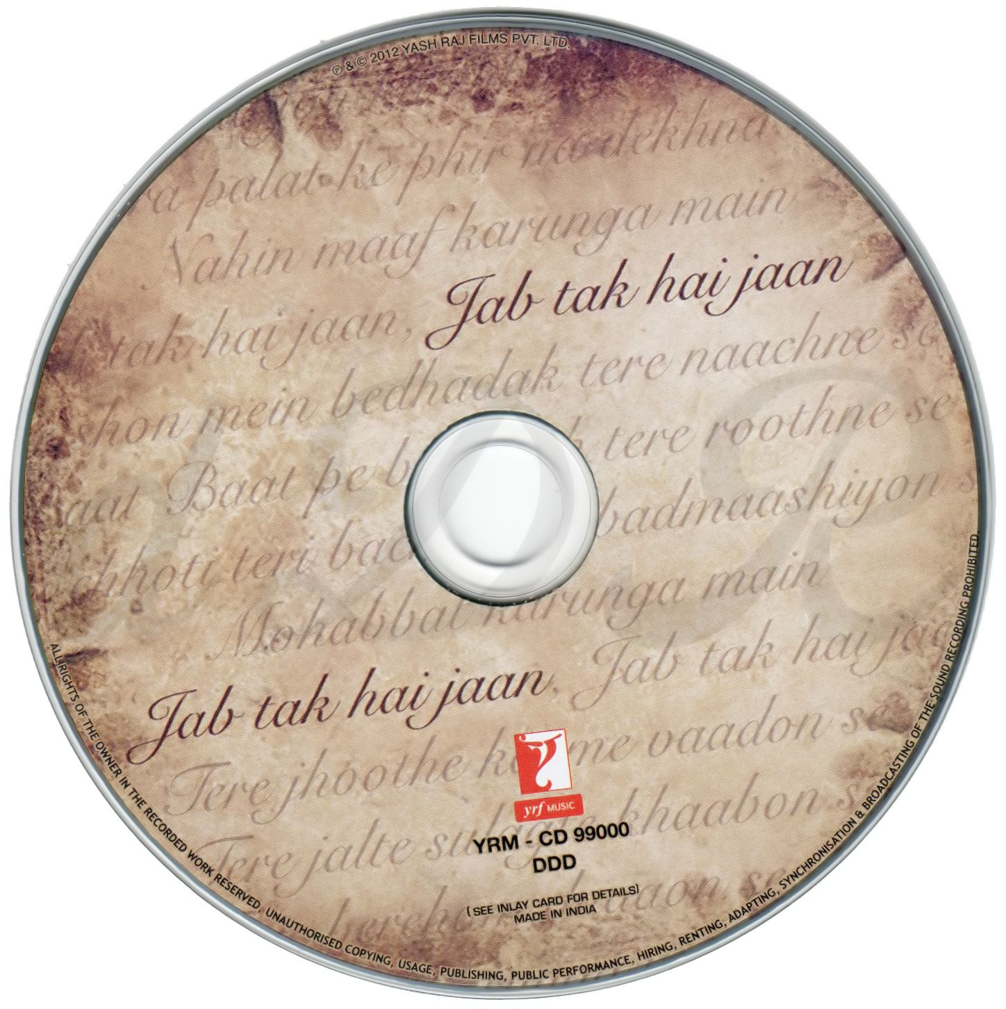 Jab Tak Hai Jaan.2012.ACDRip.FLAC.Lyrics.DDR | 276 MB |