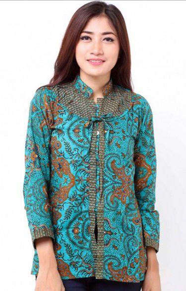 20 Model Baju Batik Kantor Modern 2019, Desain Elegan ...