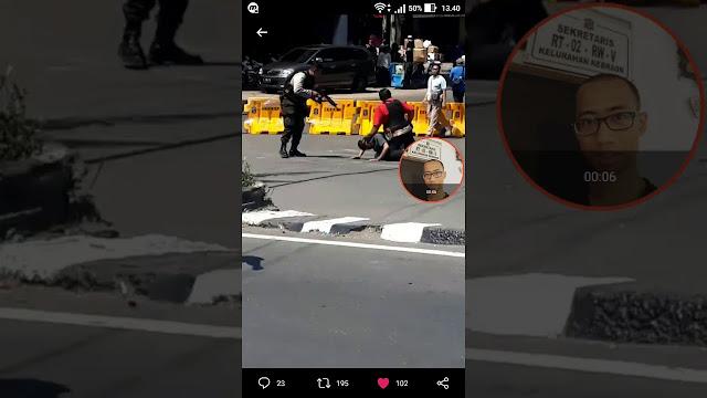 Ini Video Menegangkan Penangkapan Teroris Di Jembatan Merah Plaza Surabaya, Masyarakat yang Bergerombol Langsung Semburat