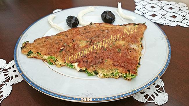 Börek Tadında Ispanaklı Omlet