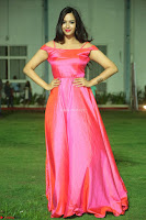 Actress Pujita Ponnada in beautiful red dress at Darshakudu music launch ~ Celebrities Galleries 025.JPG