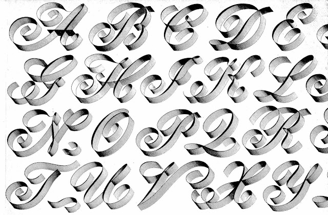 An illustration of a 1950 typeface from a supply catalog
