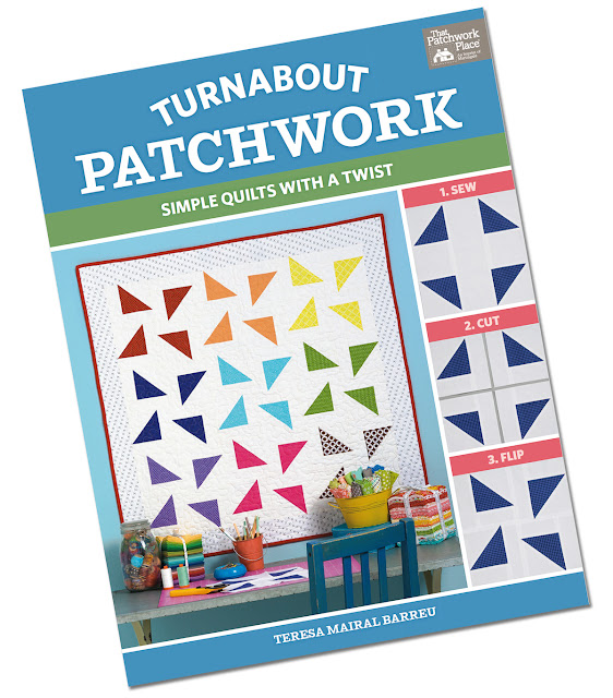 Turnabout Patchwork book by Teresa Mairal Barreu - found on A Bright Corner