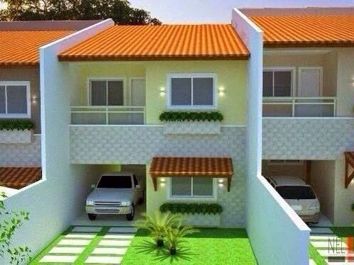 Fachadas de casas simples com varandas